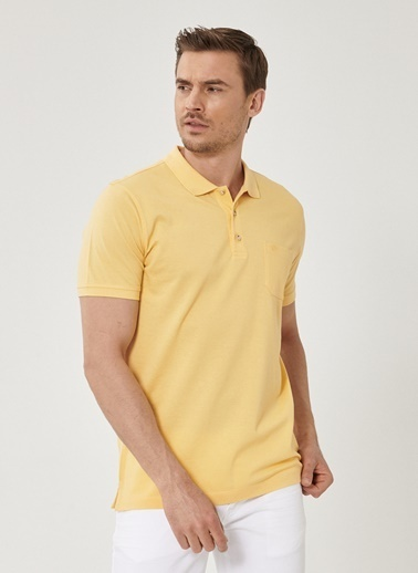 Beymen Business Regular Fit Polo Tişört 4B4819200073 Sarı